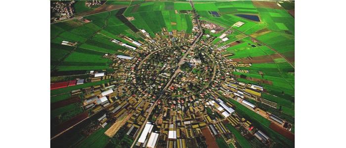 Малюнок 9. Мошав Нахалал, заснований в 1921 році (вигляд із повітря)